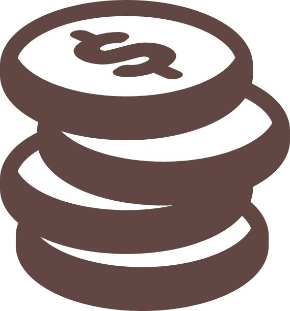 dollar-coin-stack